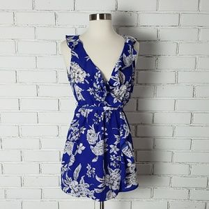 [Motherhood Maternity] Blue and white floral tank